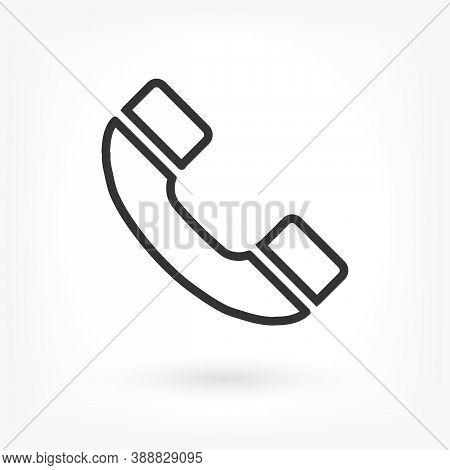 Vector Icon Handset . Lorem Ipsum Illustration Design