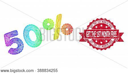 Spectrum Colorful Wire Frame 50 Percents, And Get The 1st Month Free Scratched Ribbon Seal Print. Re