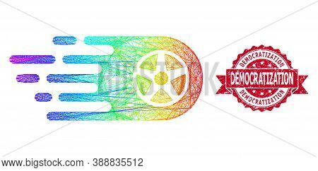 Spectrum Vibrant Wire Frame Bolide Wheel, And Democratization Rubber Ribbon Watermark. Red Seal Incl