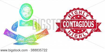 Spectrum Vibrant Wire Frame Butcher, And Highly Contagious Unclean Ribbon Seal Imitation. Red Seal H