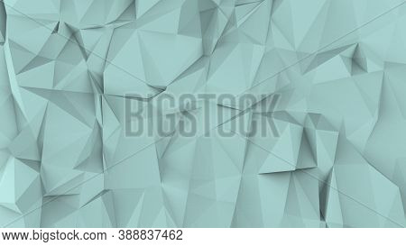 Azure Abstract Modern Crystal Background. Polygon, Line, Triangle Pattern Shape For Wallpaper. Illus