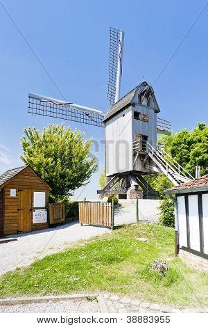 windmill of Terdeghem, Nord-Pas-de-Calais, France poster