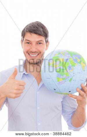 man thinking for travel destination