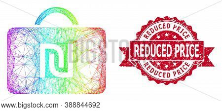 Spectrum Colorful Net Shekel Case, And Reduced Price Dirty Ribbon Stamp. Red Stamp Has Reduced Price