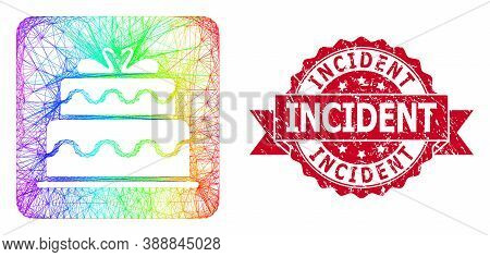 Spectrum Vibrant Net Marriage Cake, And Incident Dirty Ribbon Seal. Red Stamp Seal Includes Incident
