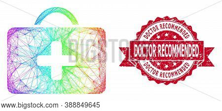 Spectrum Colorful Net Medical Case, And Doctor Recommended Unclean Ribbon Stamp Seal. Red Stamp Seal