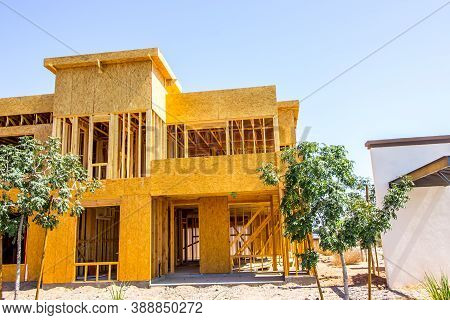 New Construction Of Two Story Apartment Building With Interior Stairways