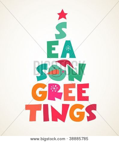 abstract vector Christmas tree with text