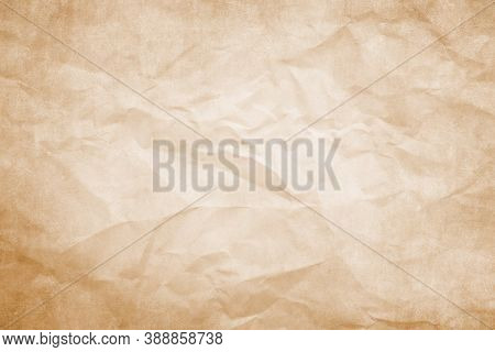 Pale Brown Clumped Paper Texture Background, Kraft Paper Horizontal With Unique Design Of Paper, Sof