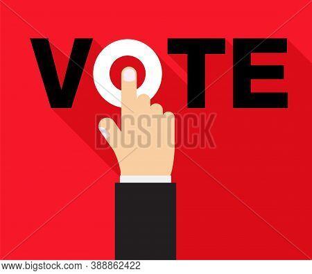 Vote Title Button, Votes Concept. Vector Design.