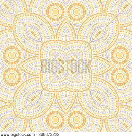 Fine Portugese Azulejo Tile Seamless Rapport. Ethnic Geometric Vector Elements. Rug Print Design. Cl