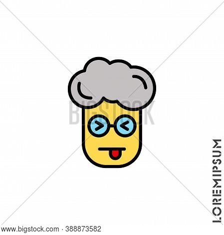 Squinting Face With Tongue Yellow Boy, Man Icon. Style Sign For Mobile Concept And Web Design. Teasi