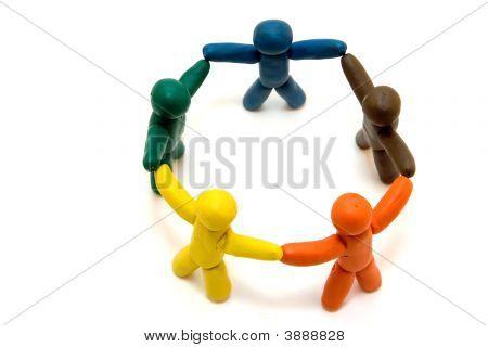 Clay Men In Circle