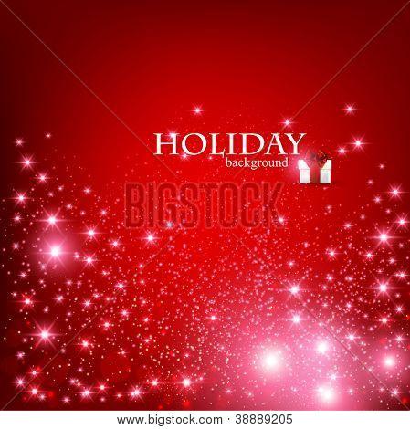 Elegante Weihnachten rot Hintergrund mit Schneeflocken und Platz für Text. Vektor-Illustration.