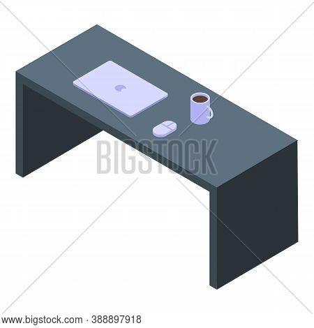 Streamer Desktop Icon. Isometric Of Streamer Desktop Vector Icon For Web Design Isolated On White Ba