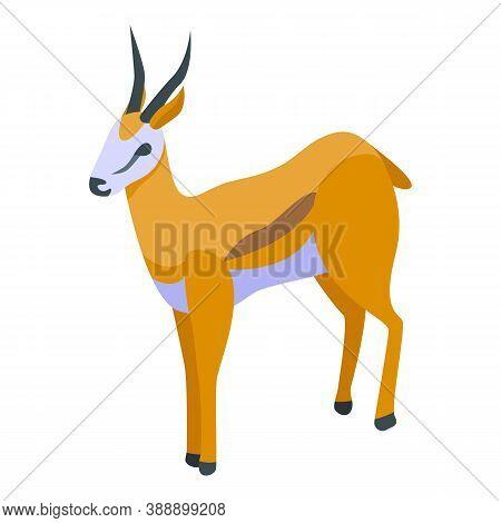 Faune Gazelle Icon. Isometric Of Faune Gazelle Vector Icon For Web Design Isolated On White Backgrou