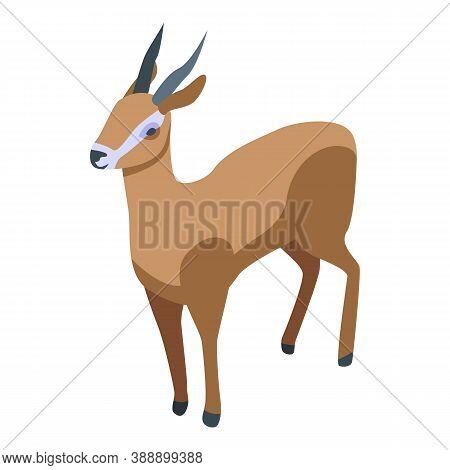 Zoo Gazelle Icon. Isometric Of Zoo Gazelle Vector Icon For Web Design Isolated On White Background