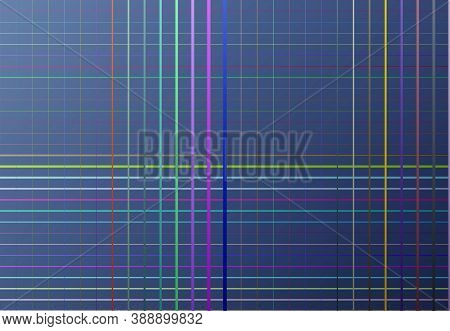 Random Color Mesh, Grid, Lattice, Grating Of Intersecting Straight Lines