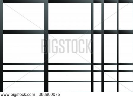 Mesh, Grid, Grill Of Overlapping, Interlace Thin And Thick Lines