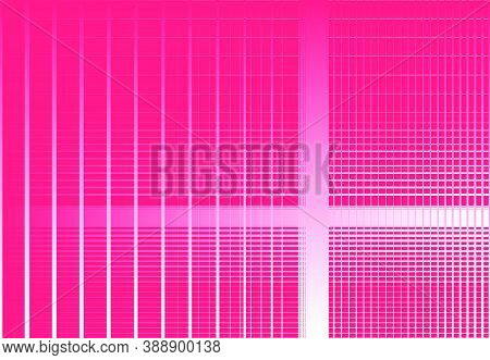Monochrome White Gradient Grid, Mesh, Lattice Or Grating. Intersected Lines Vector