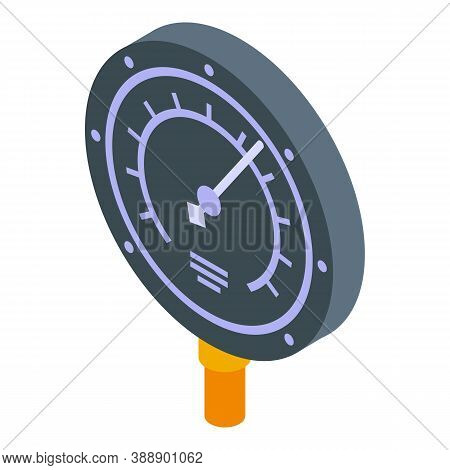 Manometer Icon. Isometric Of Manometer Vector Icon For Web Design Isolated On White Background