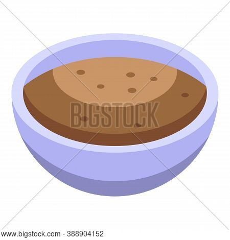 Cinnamon Bowl Icon. Isometric Of Cinnamon Bowl Vector Icon For Web Design Isolated On White Backgrou