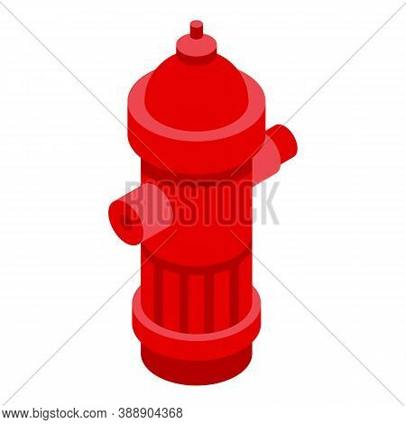 Rescuer Water Hydrant Icon. Isometric Of Rescuer Water Hydrant Vector Icon For Web Design Isolated O