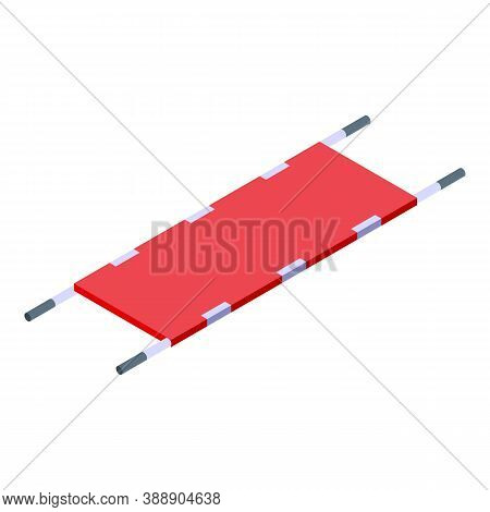 Rescuer Stretcher Icon. Isometric Of Rescuer Stretcher Vector Icon For Web Design Isolated On White
