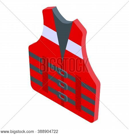 Rescuer Vest Icon. Isometric Of Rescuer Vest Vector Icon For Web Design Isolated On White Background