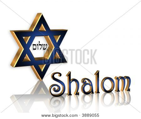 Shalom Blue Star Of David Hanukkah Card