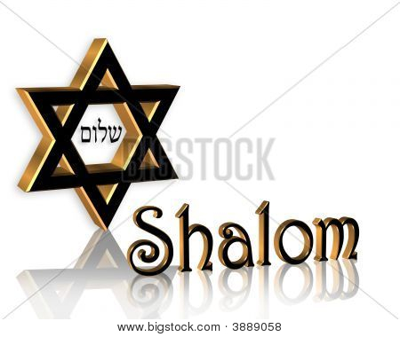 Hanukkah Shalom Jewish Star Background