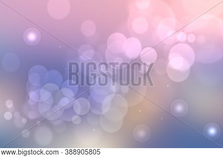 Abstract Scene In Universe. Abstract Gradient Dark Blue To Light Blue Pink Purple Space Cosmos Unive
