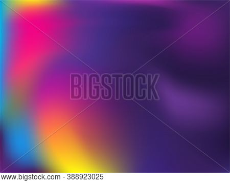 Neon Holographic Paper Fluid Gradient Backdrop. Lucent Neon Party Graphics Background. Polar Lights