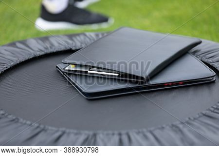 Notepad For Football Coaching And Scouting. Soccer Coach Equipment. Training Soccer Sports Planning