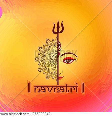 Durga Puja Celebration Poster. Graba Dance And Dandiya Night Abstract.