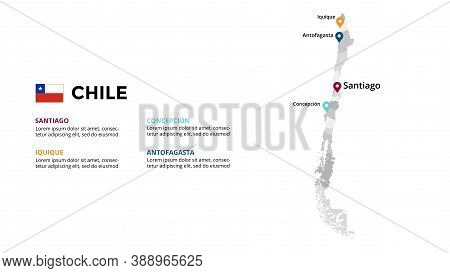 Chile Vector Map Infographic Template. Slide Presentation. Global Business Marketing Concept. South
