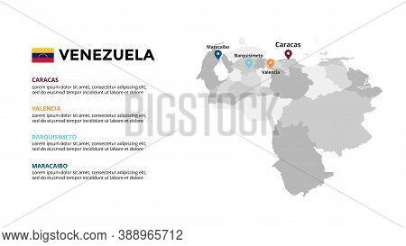 Venezuela Vector Map Infographic Template. Slide Presentation. Global Business Marketing Concept. So