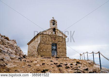 Biokovo Mountain Range In Croatia, Its Highest Peak Is Sveti Jure Saint George, Saint George Chapel