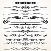 Ornamental Design Elements. Ornamental Lines to Embellish your Book, Invitation, Card or Menu poster