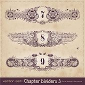 retro floral chapter dividers (set 3) poster