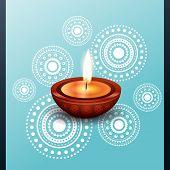 vector beautiful diwali diya design illustration poster