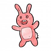 cartoon zombie rabbit poster