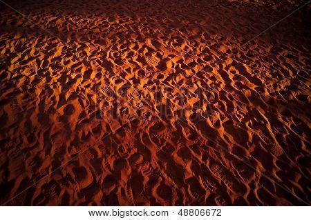 Footprints In The Desert