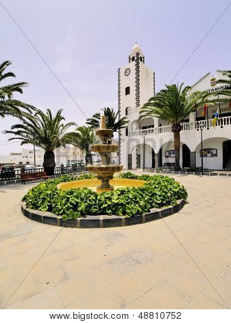 San Bartolome - small town on Lanzarote Canary Islands Spain poster