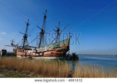 Old Ship In The Harbor