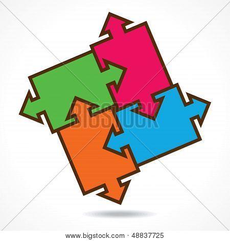 creative color puzzle design background