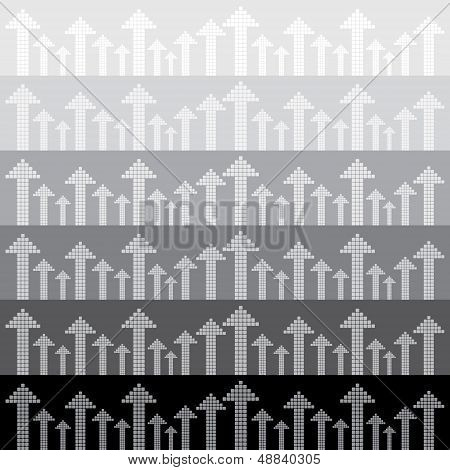 Abstract arrows background Seamless pattern