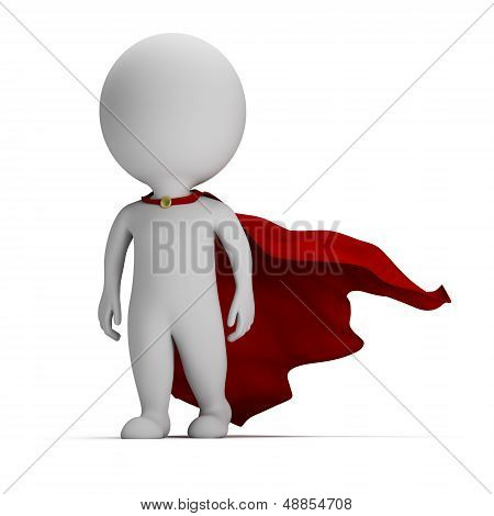 3D Small People - Brave Superhero
