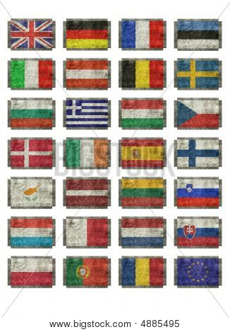 Flags Of European Nations