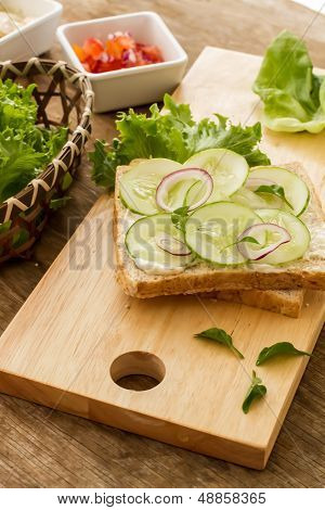 Bread And Vegetable